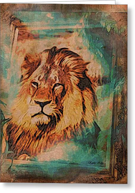 Zimbabwe Digital Art Greeting Cards - Cecil the Lion Greeting Card by Kathy Kelly
