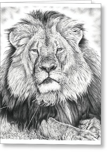 Cecil The Lion  Greeting Card by Remrov