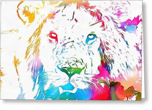 Cecil The Lion Watercolor Tribute Greeting Card by Dan Sproul