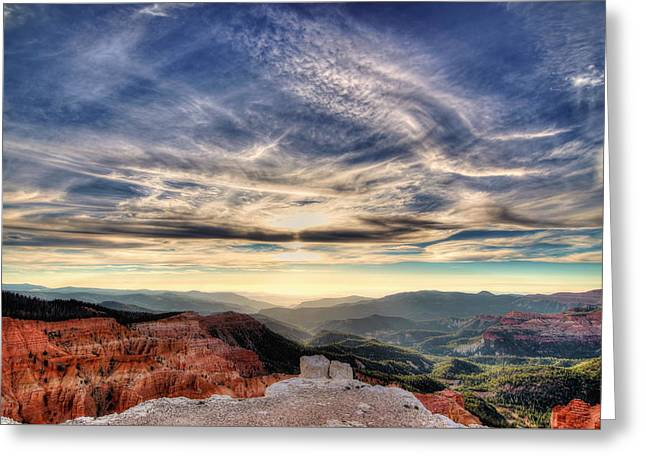Southern Utah Greeting Cards - Cedar Breaks sunset Greeting Card by James Hundley
