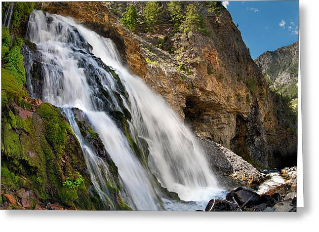 Cedar Creek Greeting Cards - Cedar Creek Falls Greeting Card by Leland D Howard