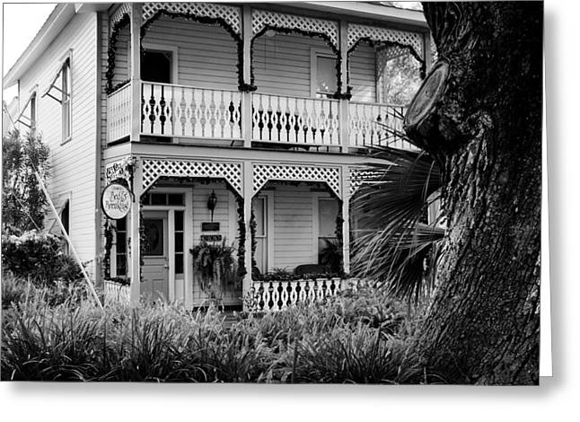 Cedar Key B And B Greeting Card by David Lee Thompson