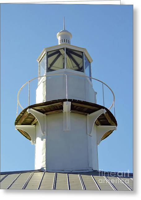 Cedar Key Greeting Cards - Cedar Key Lighthouse Lens Greeting Card by D Hackett
