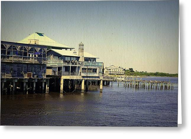 Cedar Key Greeting Cards - Cedar Key Marina Greeting Card by Laurie Perry