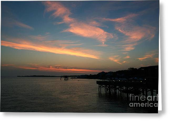 Cedar Key Greeting Cards - Cedar Key Sunset 3 Greeting Card by Kathi Shotwell