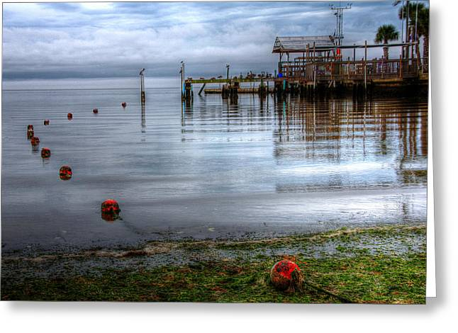 Cedar Key Waterfront  Greeting Card by Tim Ford