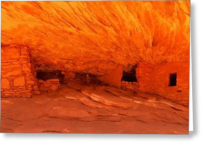 Ancient Ruins Greeting Cards - Cedar Mesa Panorama Greeting Card by Adam Jewell