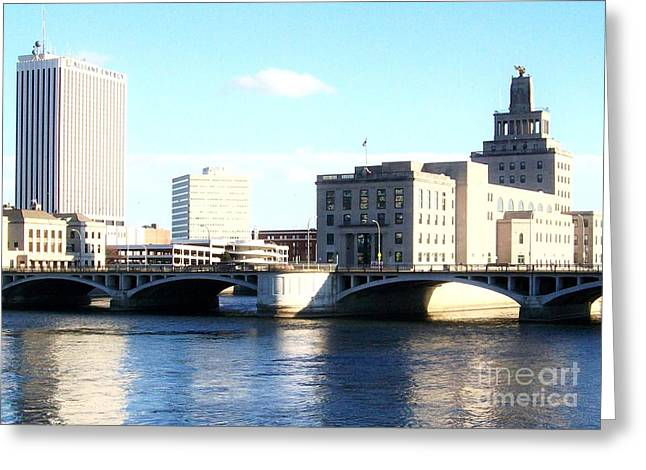 Cedar Rapids Downtown Iowa Greeting Card by Marsha Heiken