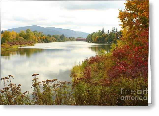 Sandpoint Greeting Cards - Cedar Street Bridge Greeting Card by Idaho Scenic Images Linda Lantzy
