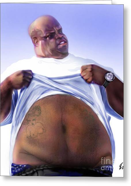 African-american Paintings Greeting Cards - Cee Lo Green-The Day I Lost My Mind Greeting Card by Reggie Duffie