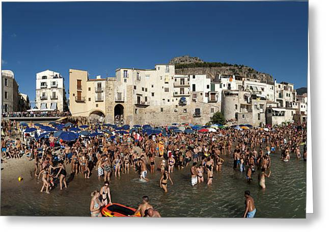 Cefalu Greeting Card by Robert Lacy