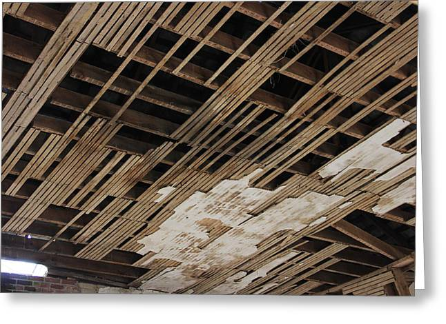 Ceiling Laths Greeting Card by Jeff Roney