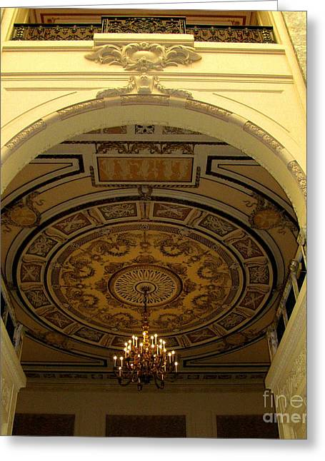 Original Photographs Greeting Cards - Ceiling Work Greeting Card by Colleen Kammerer