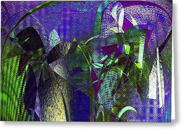 Modern Digital Art Digital Art Greeting Cards - Celadon Blues Greeting Card by Joshua Moore