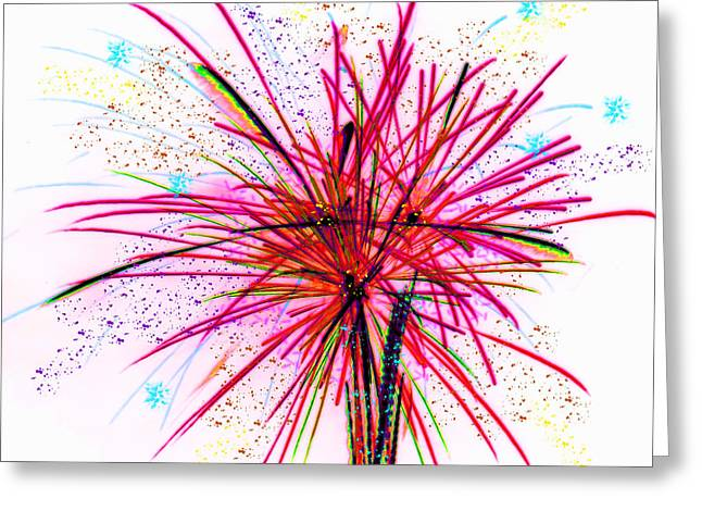 4th July Mixed Media Greeting Cards - Celebrate Greeting Card by Kathy Franklin