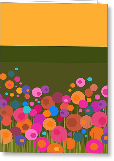 Celebrate Digital Art Greeting Cards - Celebrate Spring Greeting Card by Val Arie