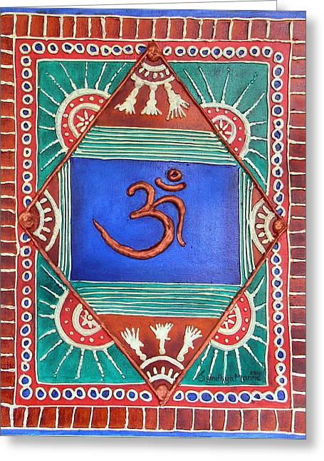 Celebrating Om Greeting Card by Sandhya Manne