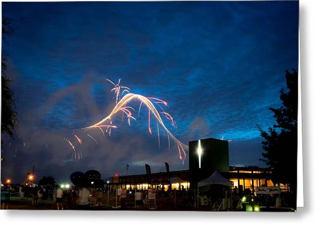 4th July Greeting Cards - Celebrating Skies Greeting Card by Caleb McElhaney