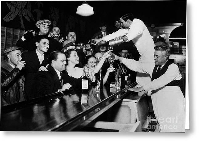 Celebrating The End Of Prohibition Greeting Card by American School