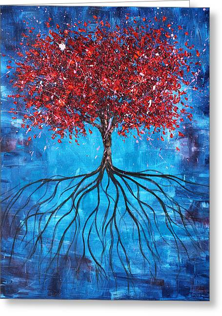 Tree Roots Paintings Greeting Cards - Celebration Greeting Card by Ben Kelley