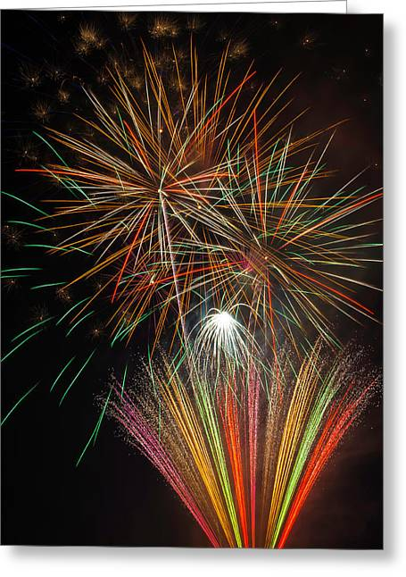 Celebration Fireworks Greeting Card by Garry Gay