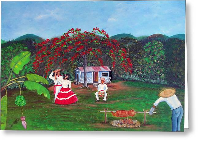 Folk Dancing Greeting Cards - Celebration Greeting Card by Gloria E Barreto-Rodriguez