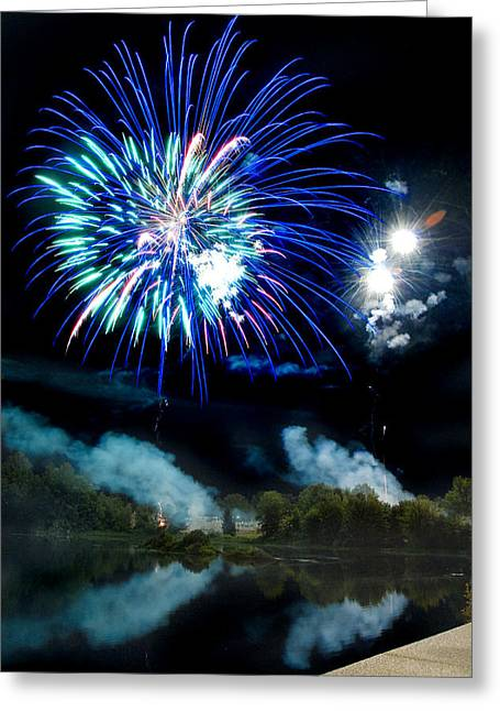 Celebration II Greeting Card by Greg Fortier