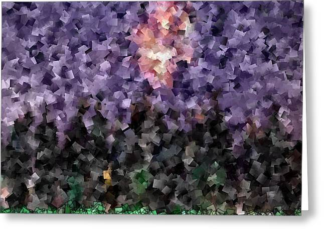 Office Space Digital Greeting Cards - Celebration Fireworks - Abstract Tiles No15.820 Greeting Card by Jason Freedman