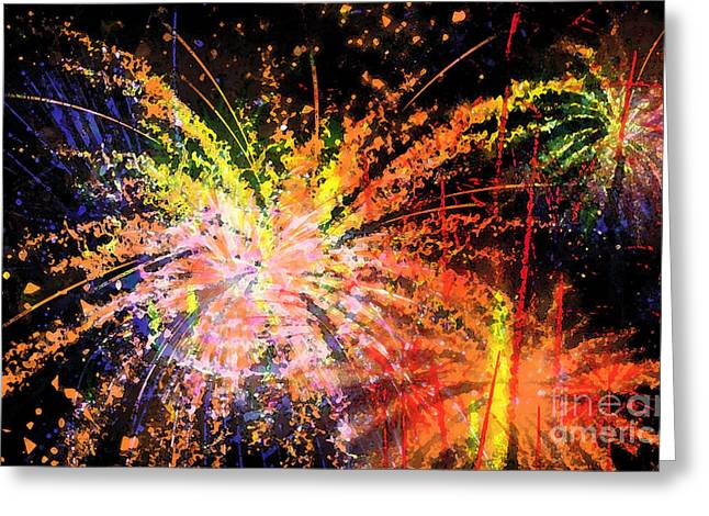 Painted Image Greeting Cards - Celebration Greeting Card by Richard Rizzo