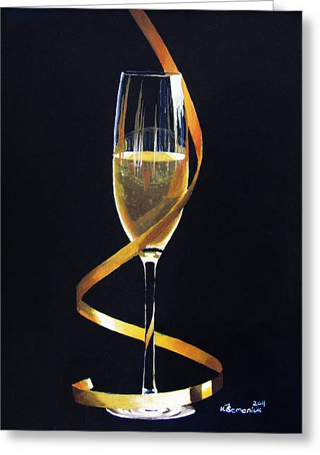 Liquid Gold Greeting Cards - Celebrations Greeting Card by Kayleigh Semeniuk