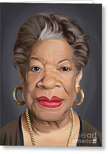 Maya Angelou Greeting Cards - Celebrity Sunday - Maya Angelou Greeting Card by Rob Snow