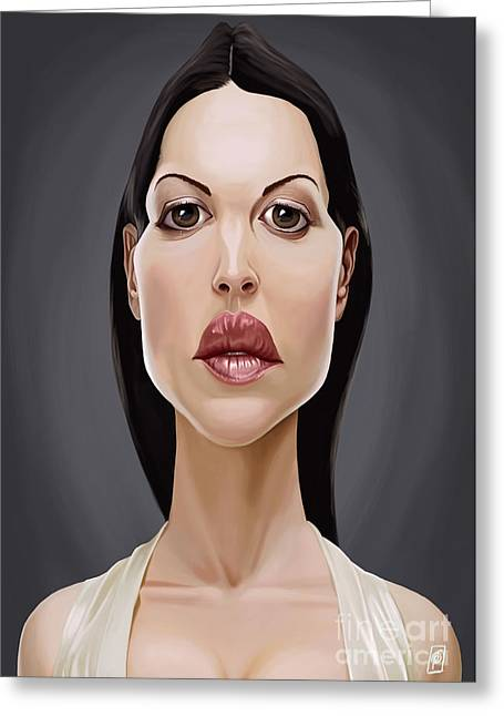 Movie Art Greeting Cards - Celebrity Sunday Monica Bellucci Greeting Card by Rob Snow
