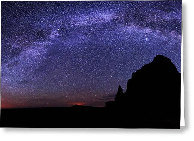 Utah Sky Greeting Cards - Celestial Arch Greeting Card by Chad Dutson
