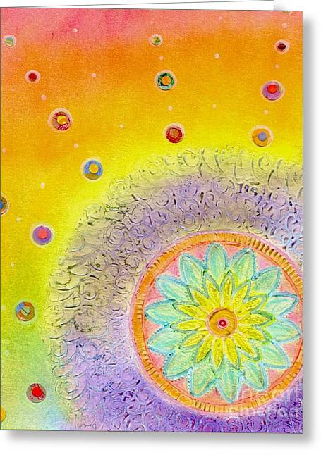 Chakra Rainbow Greeting Cards - Celestial Greeting Card by Desiree Paquette