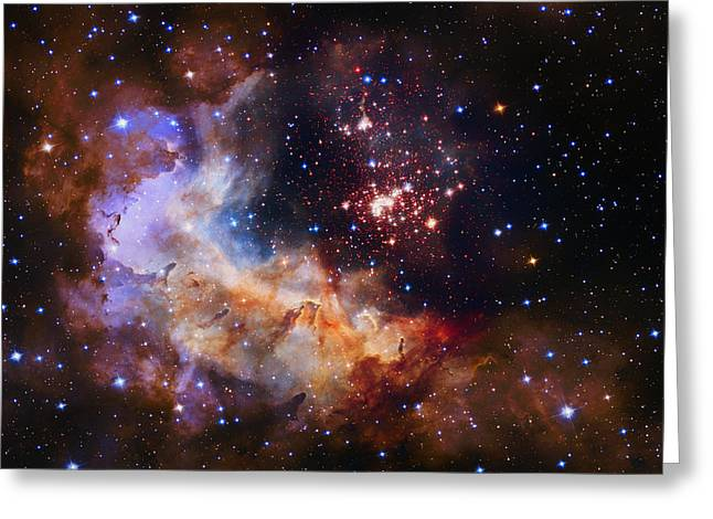 Helium Greeting Cards - Celestial Fireworks Greeting Card by Nasa