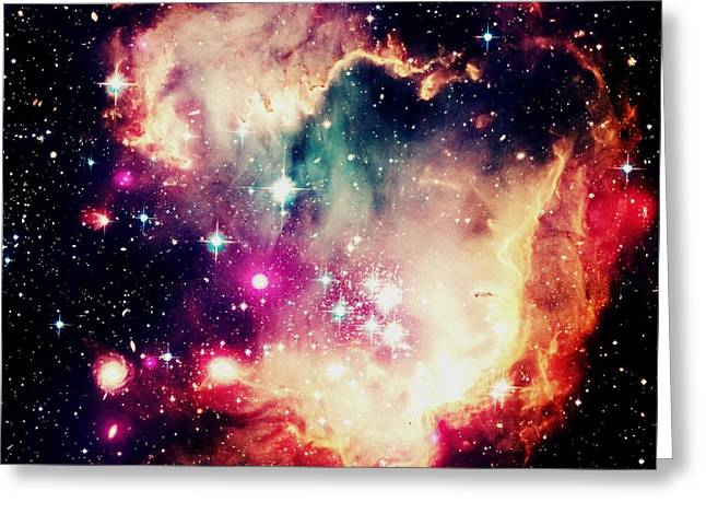 Constellations Greeting Cards - Celestial Greeting Card by Johari Smith