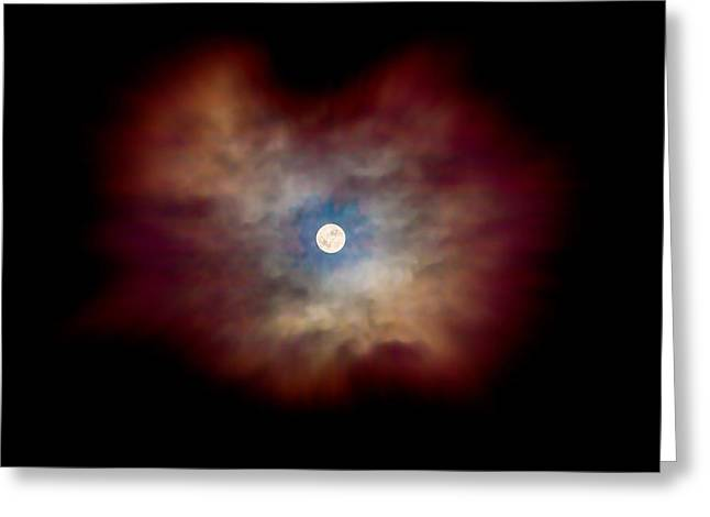 Looking Up Greeting Cards - Celestial Moon Greeting Card by Az Jackson