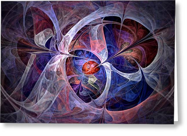 North Star Greeting Cards - Celestial North - Fractal Art Greeting Card by NirvanaBlues