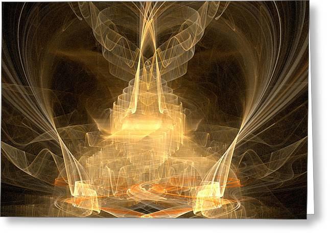 Christian Artwork Digital Art Greeting Cards - Celestial Greeting Card by R Thomas Brass