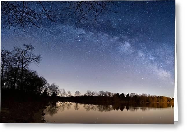 Celestial Sky Greeting Card by Bill Wakeley