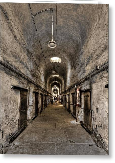 Penitentiary Greeting Cards - Cell Block  Greeting Card by Evelina Kremsdorf
