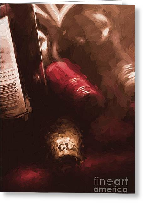 Cellar Wine Bottles Fine Art Greeting Card by Jorgo Photography - Wall Art Gallery