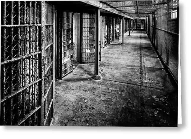 Reform Greeting Cards - Cellblock No. 9 Greeting Card by Tom Mc Nemar