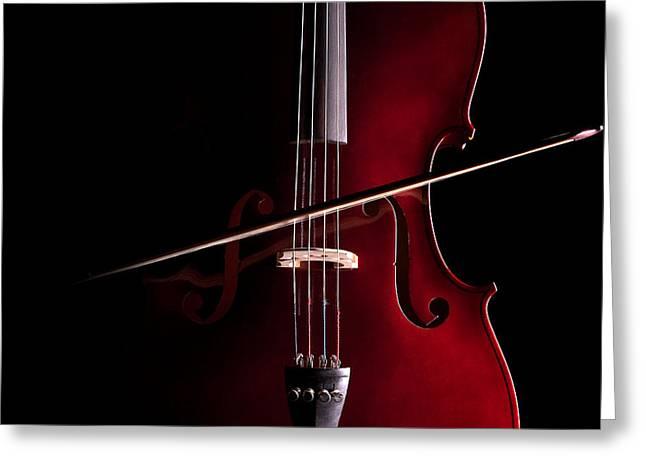 Violin Bows Violin Bows Greeting Cards - Cello Greeting Card by Dario Infini