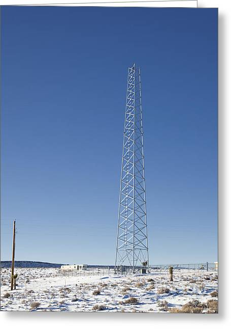 Cellphone Tower Greeting Card by David Buffington