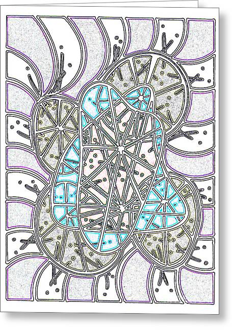 Layer Greeting Cards - Cellular Engine Greeting Card by Peter Paul Lividini