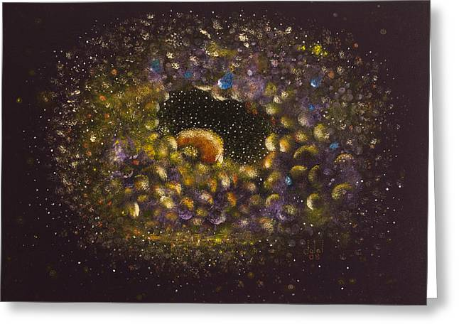 Biology Greeting Cards - Cellular Universe 13 Greeting Card by Dalal Farah Baird