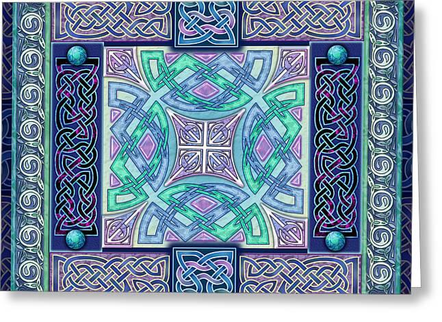 Atlantis Mixed Media Greeting Cards - Celtic Atlantis Opal Greeting Card by Kristen Fox