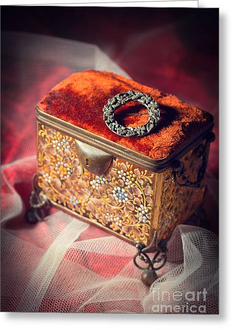 Casket Greeting Cards - Celtic Brooch Greeting Card by Amanda And Christopher Elwell