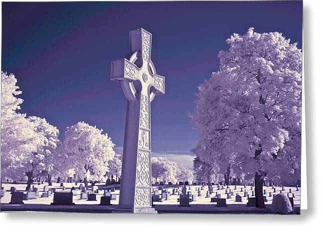 Celtic Cross Greeting Card by James Walsh